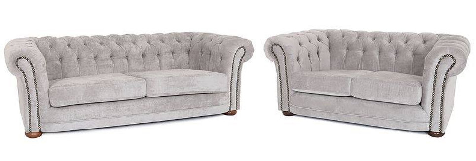 3+2 Luxury Grey Chesterfield
