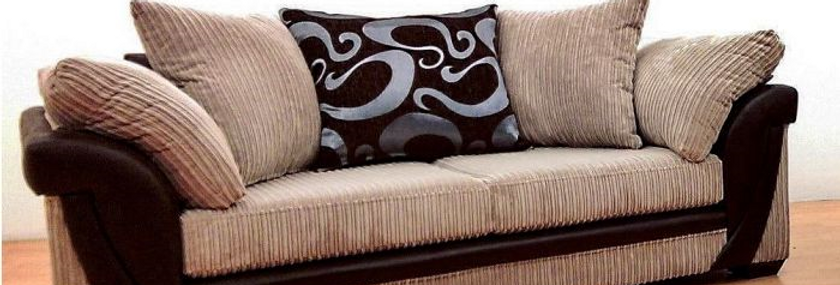 Lush 3 Seater Fabric Sofa Biscuit