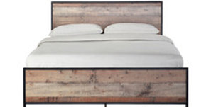 HOXTON 4.6 DOUBLE BED OAK EFFECT