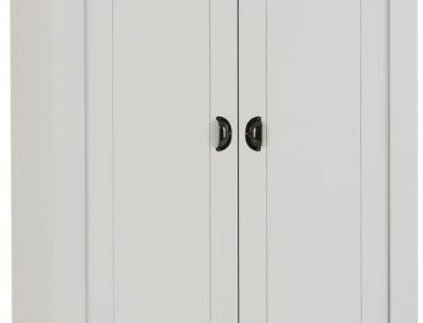 Ludlow 2 Door Wardrobe in Grey/Oak Lacquer