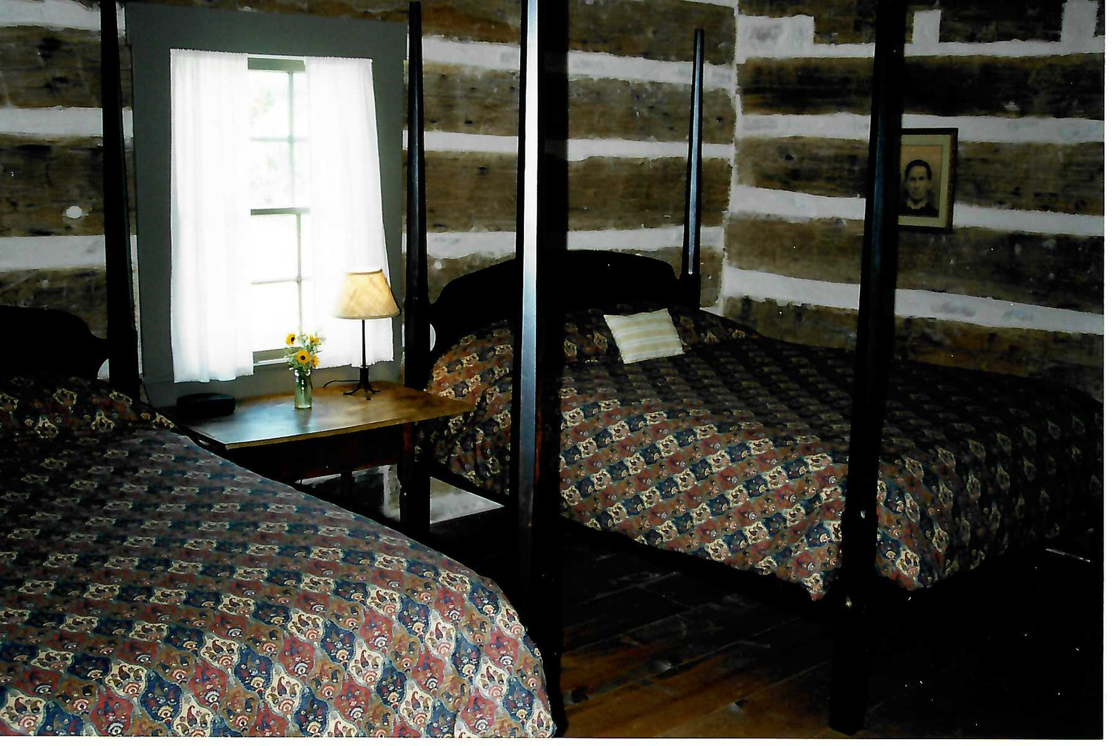 Left Bedroom of Log Cabin