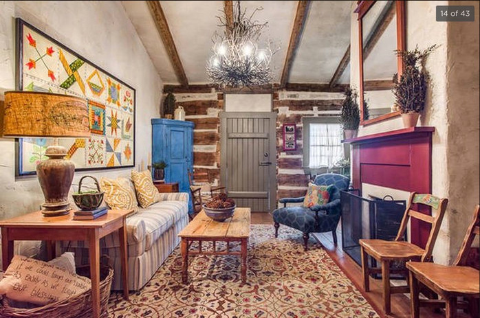 Log Cabin Living Area Pre-Legacy Ranch