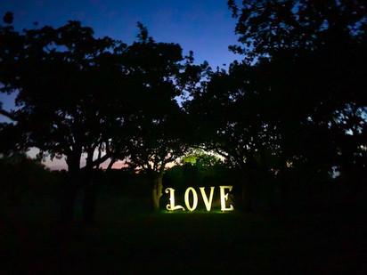 Legacy Ranch LOVE at Night