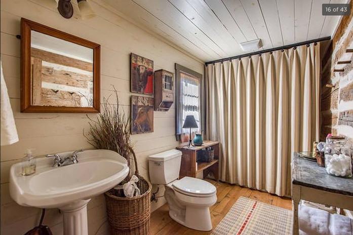 Log Cabin Bathroom Pre-Legacy Ranch