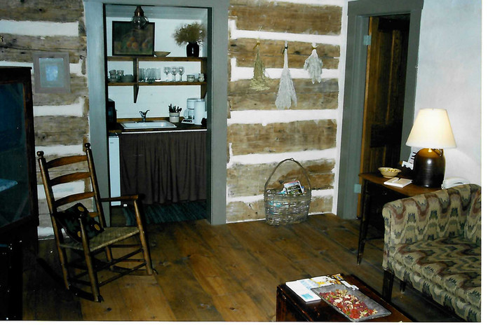 Living Area of Log Cabin