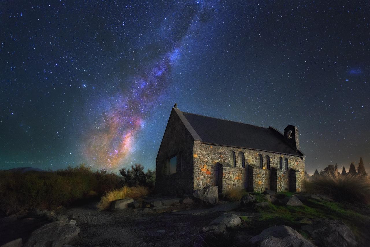 Milky Way Over Good Shephered