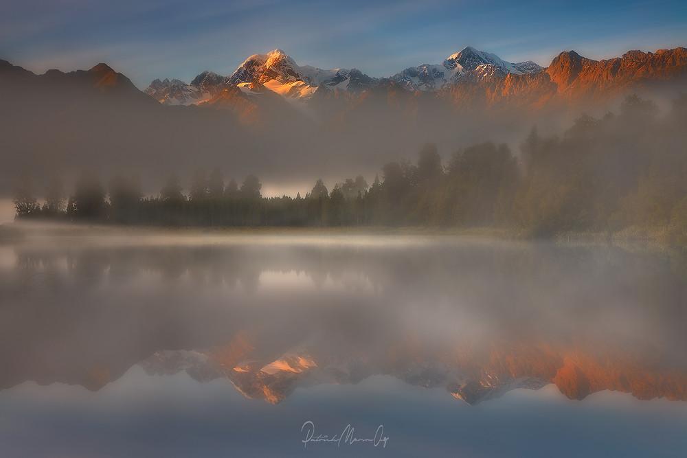 Misty morning at Lake Matheson