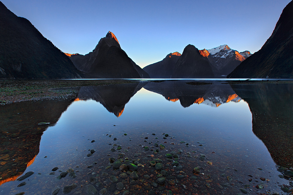 Mitre peak Reflections of Milfor sound