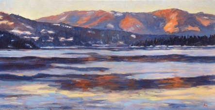Shuswap Winter Sunset