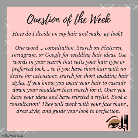 Question of the Week! Hair and Make-up
