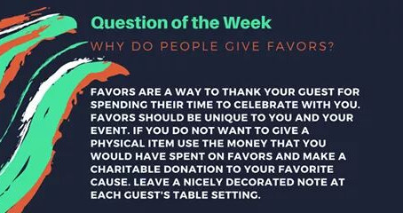 Question of the Week- Why do people give favors?
