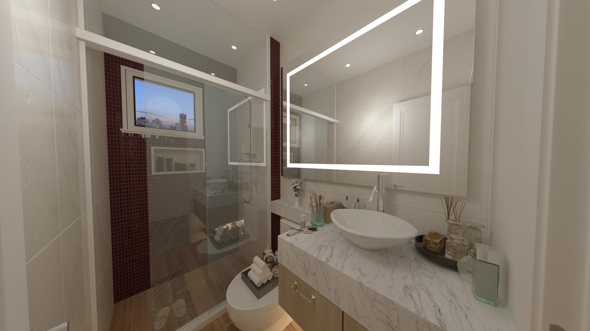 Projeto banheiro pequeno