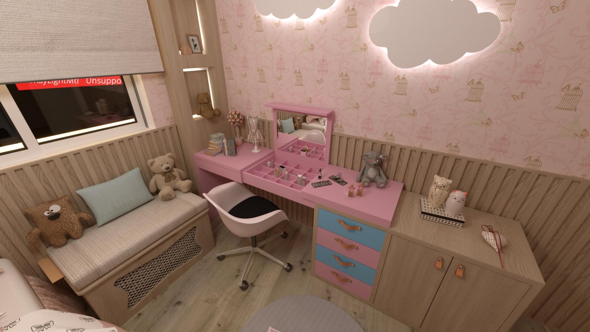Projeto quarto menina