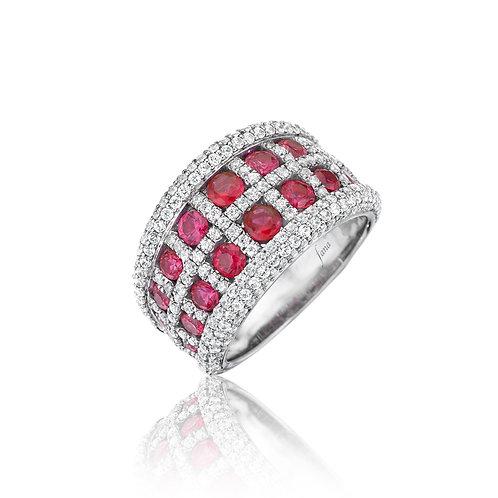 FANA Ruby and Diamond Ring