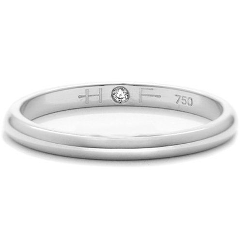 Platinum 4mm Comfort Fit Hearts On Fire Band