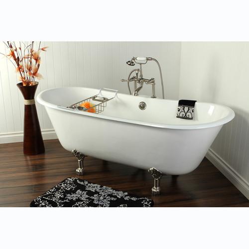 cast iron double slipper clawfoot tub. Aqua Eden 67  Cast Iron Double Slipper Clawfoot Bathtub with Chrome Feet