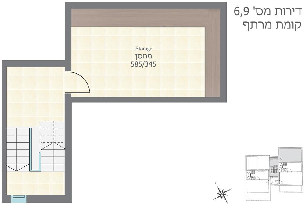דירות 6, 9, קומת מרתף
