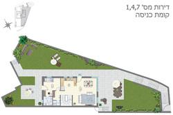 דירות 1, 4, 7, קומת כניסה