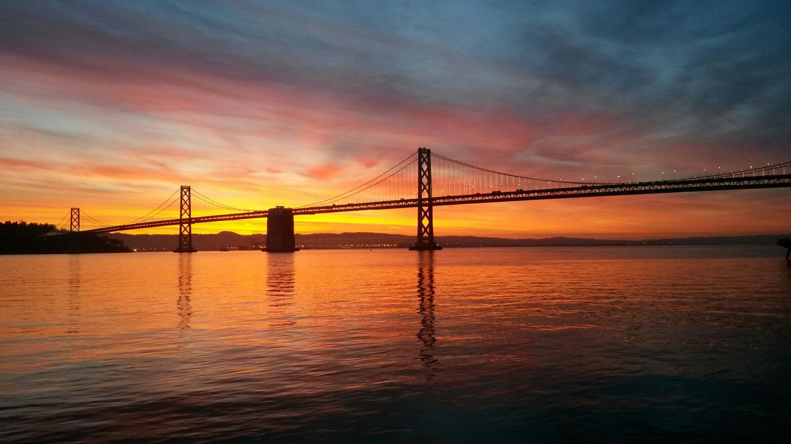 bay bridge dawn
