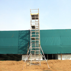 Kisan Agri Fare - Double Width BoSS Stairway Model, Working Height 10.4m Front View