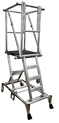 4 Part Ladder In Collapsed Condition