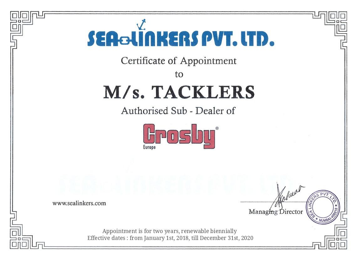 CrosBy Certificate