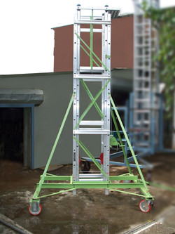 Telescopic Tower Ladder in closed condition