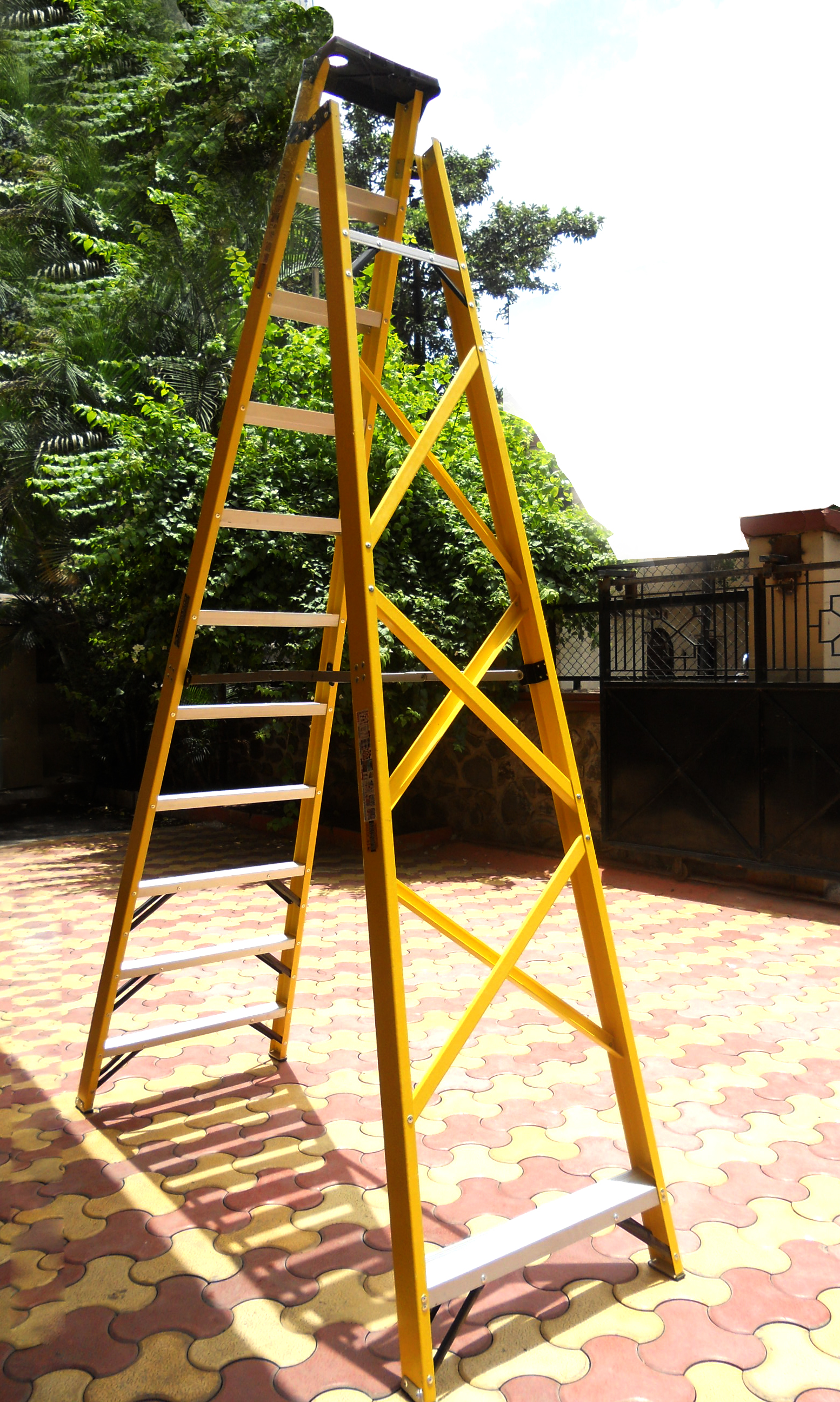 Industrial Step Ladders In The Range - 8 ft to 14ft (Reinforced Back Frame)