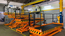 Scissor Lifts for assembly of Escavators
