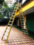 Industrial Trestle Ladder In The Range 4ft to 14ft (Aluminium Steps In Both Front & Back Frame)