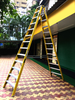 Industrial Trestle Ladder In The Range 4ft to 14ft (Aluminium Steps In Both Front & Back Frame)