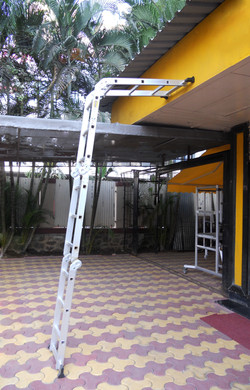 4 Part Ladder In Leaning Position With Stand Off