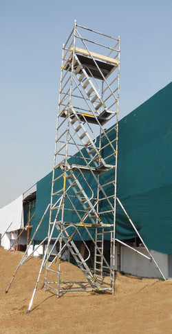 Kisan Agri Fare - Double Width BoSS Stairway Model, Working Height 10.4m Side View