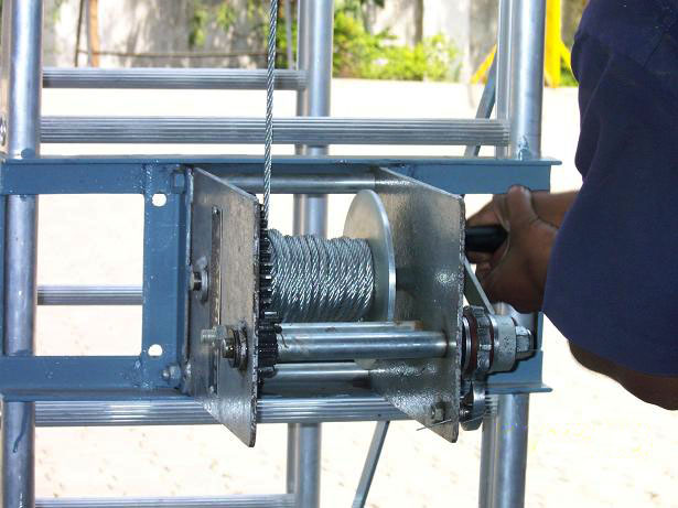 Extension winch