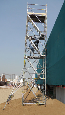 Kisan Agri Fare - Double Width BoSS Stairway Model, Working Height 10.4m - Base plates instead of wh