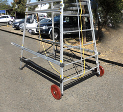 Trolleywheeled Ladder Double Section