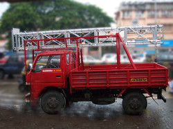 Truck mounted Ladder in collapsed condition