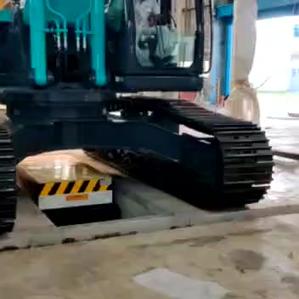 60Ton Ferro Tiger custom manufactured pit mounted #Scissor Lift For EXCAVATOR lifting