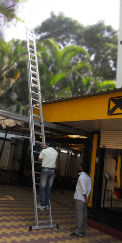 Combination ladder as a wall extension ladder