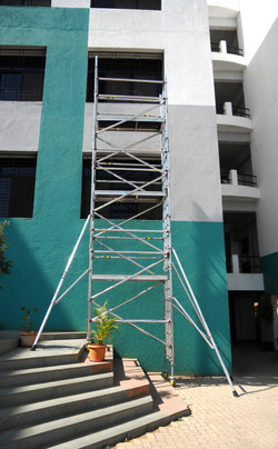 Indira College Of Management - Single Width BoSS used on steps, 8.2m Working Height