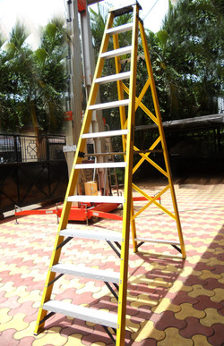 Industrial Step Ladder 10 (Aluminium Steps With Steel Brace)