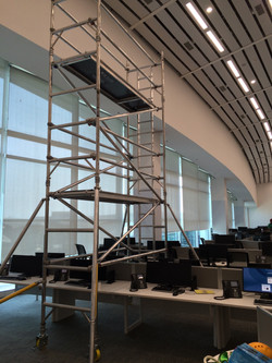 Credit Suisse - Single Width BoSS, assembled on a Workstation, Working Height - 8.2m, Footprint - 0.
