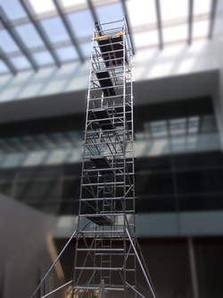 Tower being used at T3 Terminal, Delhi with Working Height of 14.2m & Footprint 1.45 x 1