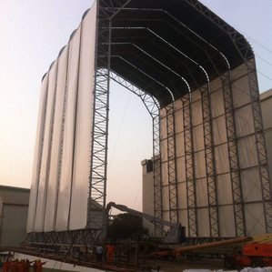 Wire rope sling and rigging to hold India's largest shelters supplied by TACKLERS
