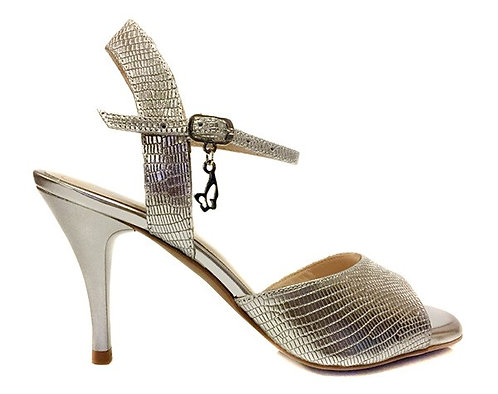 M31 SILVER LEATHER- SOFT SOLE - 7.5CM