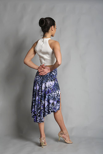 Tango Moment Milonga Skirt Purple Leopard