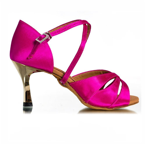 BD Dance Professional Latin Salsa Shoes - Hot Pink