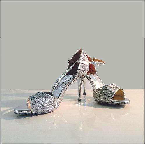 Tango Moment Silver Suede Sole - 8.5 cm