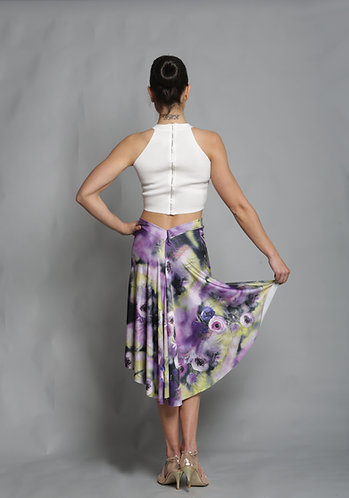 Tango Moment Milonga Skirt Floral