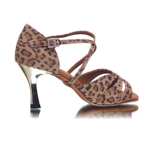 BD Dance Professional Latin Salsa Shoes - Leopard